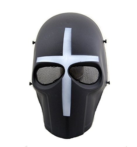 haoYK Tactical Airsoft Paintball CS Cosplay Hockey BB Bescherm Full Face Beschermend Masker voor Halloween Masquerade