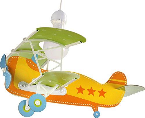 Dalber Baby Plane - Lámpara colgante Avión, color naranja