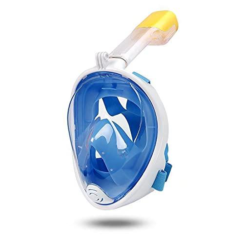 TAIYANYU Sea Snorkel Mask Full Face, Full Face Snorkel Mask Kids Adult Anti-Fog Anti-Leak Sea Snorkel Gear (L,Blue)