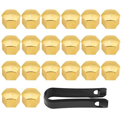 Cubierta de la tuerca de la orejeta del coche, 20 piezas 17 mm Cubiertas universales del cubo de la rueda del neumático del automóvil Tuerca de la tuerca Tornillo Tapa de protección Tapa de protección