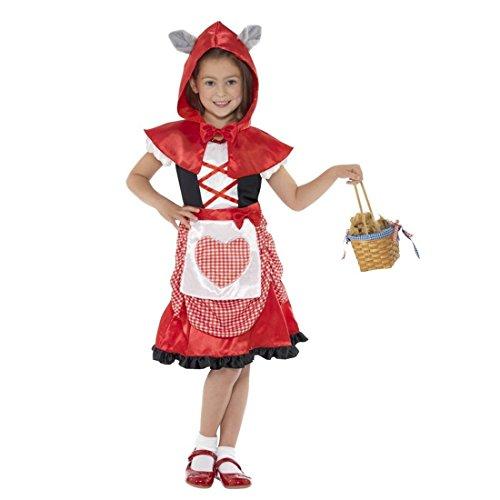 NET TOYS Rotkäppchen Kostüm Kinder Märchen Verkleidung L - 145-158 cm 10-12 Jahre Rotkäppchenkostüm Märchenkostüm Kinderkostüm Mädchen Red Riding Hood Faschingskostüm