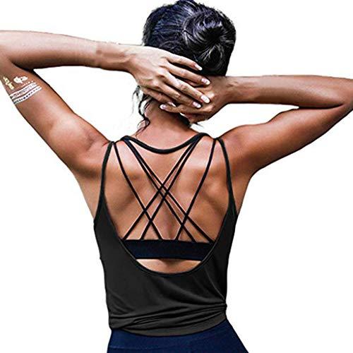 Camiseta Sin Mangas Mujer SHOBDW 2020 Nuevo Playa de Verano Deporte Camisetas Mujer Tirantes Baratas Yoga Sexy...
