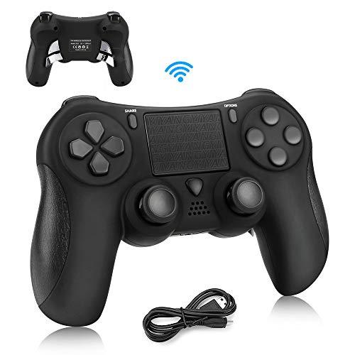 PS4 Controller Achort Wireless Bluetooth Dualshock Controller Joystick Gamepad mit vier Flügelknöpfe für PS4/PS4 Slim/PS4 Pro/ PC(Windows 7/8/10) Schwarz
