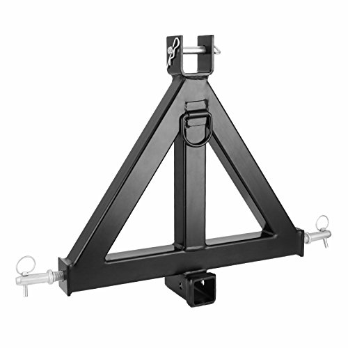 Mophorn 3 Point Trailer Hitch Heavy Duty 2In Receiver Hitch Category 1 33In Hitch Attachments Tow Hitch Drawbar Adapter Black (Heavy Duty Trailer Hitch)