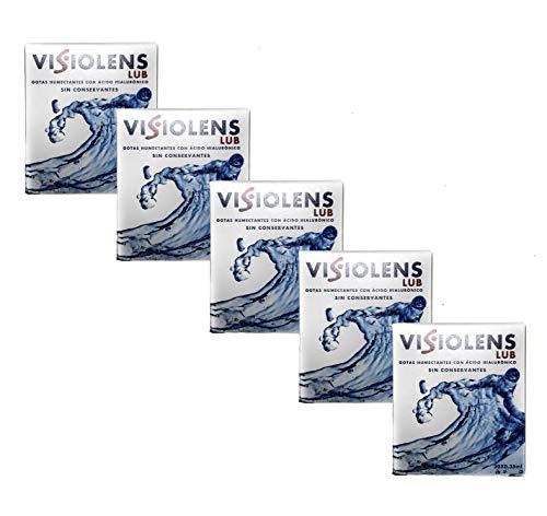 Visiolens LUB - 5 x Lágrimas artificiales monodosis con ácido hialurónico sin...