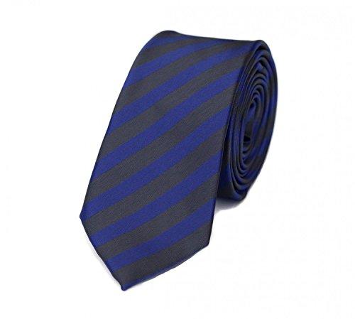 Fabio Farini – Herren Krawatte elegant gestreift für Hochzeit, Konfirmation, Ball in 6 cm oder 8 cm zur Auswahl lila indigo grau graphite Schmal (6cm)