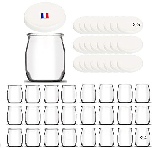 24 Joghurtgläser aus Glas mit 24...