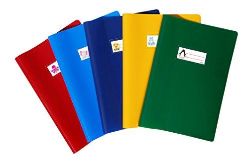 Favorit 400113432 - Copri Quaderni con Etichetta, 10 pezzi, A4, Multicolori