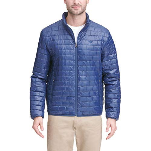 Dockers Men's Lightweight Ultra Loft Quilted Packable Jacket (Regular and Big & Tall), New Navy, Large