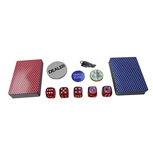 Oypla Poker Set - 500 Piece Texas Hold Em Complete With Chips, Cards, Dice, And Casino Style Case