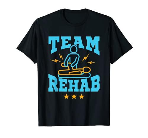 Equipo de Rehabilitación de Fisioterapia Squad PT Asistente de terapeuta Camiseta