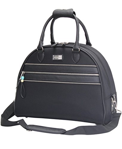 Steve Madden Patchwork Satchel Carry-On Bag (Black)