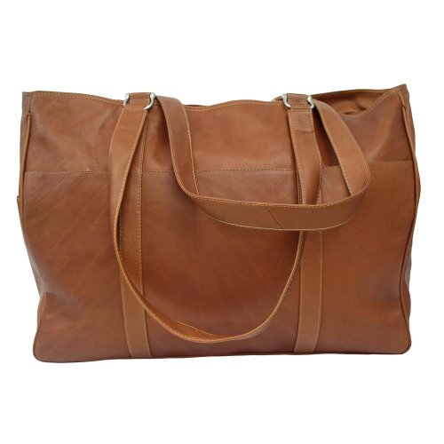 Piel Leather Large Shopping Bag, Saddle, One Size