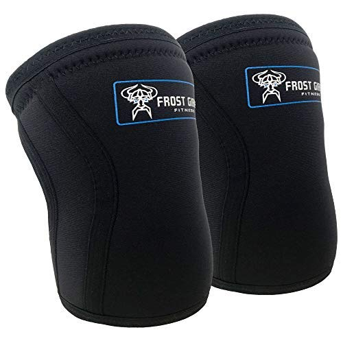 Frost Giant Fitness: Sports Compression Knee Sleeve ~ Heavy Duty & Comfortable Elastic Brace Support | Weightlifting, Cross Fit, Exercising, Injury, Running, Pain Relief, (Unisex Single Sleeve), XL