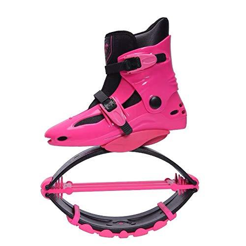JJZXLQ Zapatos de Canguro Botas de Salto Botas antigravedad con zancos Que rebotan Jump Fitness Dance Zapato Yoga Mujeres Fitness Home Gym,F,L