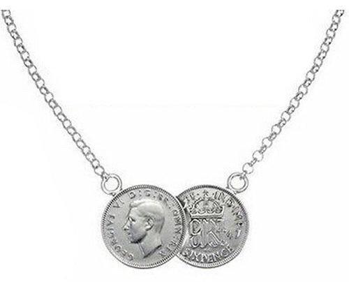 BOOLAVARD Celebrity Lucky Double Coin hanger & ketting - goud & zilver + juwelendoos