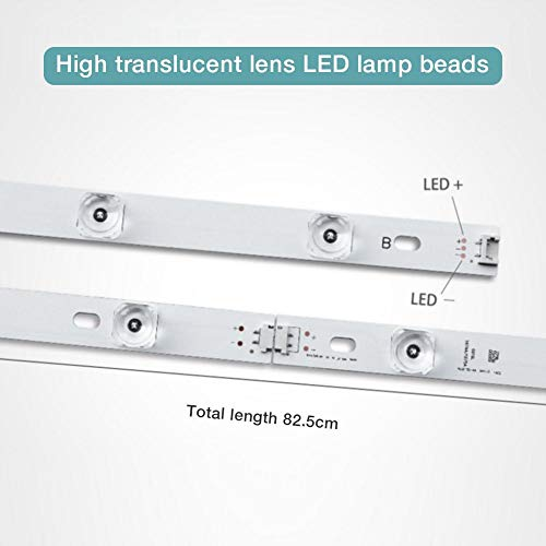 8PCS Tira de retroiluminación LED para LG TV de 42 Pulgadas INNOTEK DRT 3.0 42'6916L 1709B 1710B 1957E 1956E 6916L-1956A 6916L-1957A 42LB561v con 4 Bombillas de luz Barra de luz