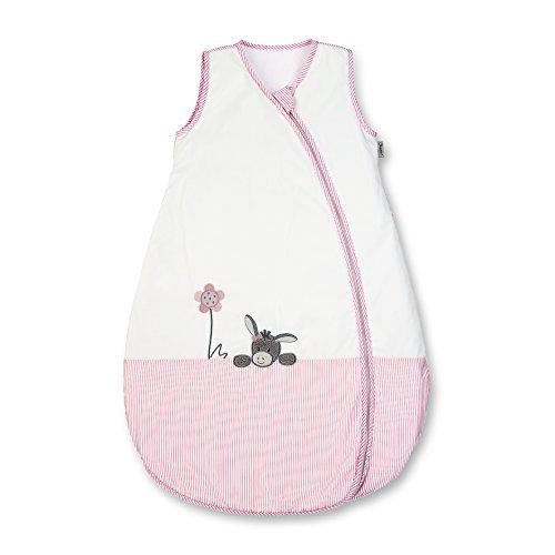 Sterntaler Sommer-Schlafsack für Kleinkinder, Reißverschluss, Größe: 90, Emmi Girl, Weiß/Rosa