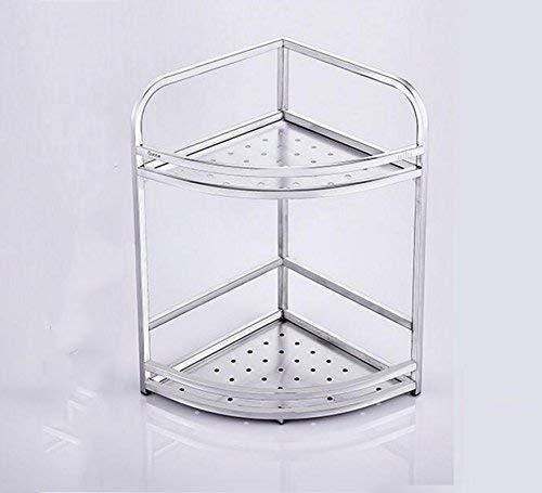 Qiutianchen Regal Multi-Layer-Stativ-Küchen-Edelstahl-Speicher-Regal-Gewürz-Rack-Drain-Lagerregal 29x29x38cm-Regal