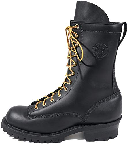 White's Boots Women's Line Scout Hathorn Explorer NFPA Womens Lace-to-Toe Smokejumper, Black - 9.5 D