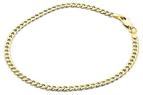 Pulsera de 14 ct, de eslabones, oro amarillo 585, ancho 4,40 mm - unisex
