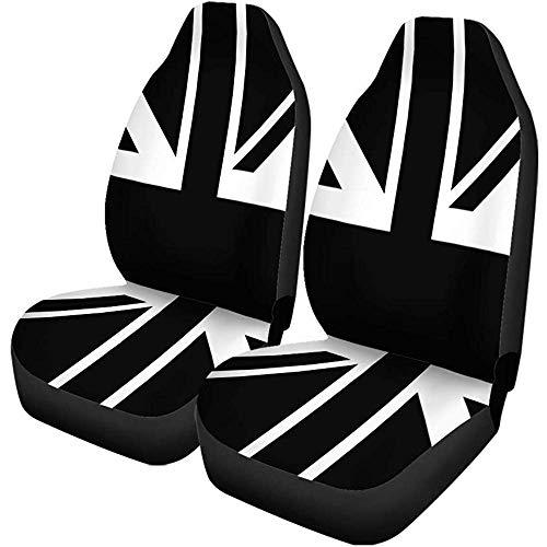 TABUE 2PCS Autositzbezüge Flagge Schwarz Weiß Union Jack British England Englisch...