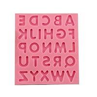 アルファベット 大文字 シリコンモールド ケーキ モールド レジン シリコン型 粘土 樹脂 抜き 型 LeafIn