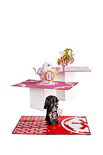 Lovepop Star Wars Valentine's Day Cards - 3 Pack, Pop Up Valentines Day Cards, 3D Cards, Star Wars Cards, 3D Valentines Day Cards, Card for Wife, Card for Husband, Star Wars Cards, Romance Card