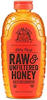 Nature Nate's 100% Pure Raw & Unfiltered Georgia Honey; 32 Ounce. Squeeze Bottle; Certified Gluten Free and OU Kosher Cert...