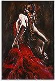 Mural con Estampado De Arte Bailaora de Flamenco Famosa para la decoración de Habitaciones PóSter Lienzo Pintura Pared 23.6'x35.4'(60x90cm) Sin Marco