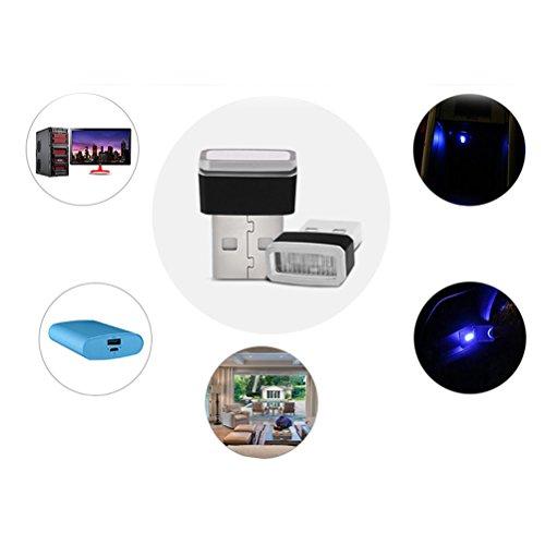 VORCOOL Mini USB LED Licht Auto Umgebungsbeleuchtung für Laptop Tastatur (Rotlicht)