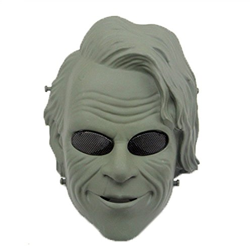 haoYK Tactical Softair Paintball Full Face Schutz Joker Clown Maske für Halloween Cosplay CS Krieg Spiel Film Prop Masquerade Party, OD Green