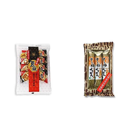 [2点セット] 飛騨銘菓「打保屋」の駄菓子 豆板(8枚入) ・信州産市田柿使用 スティックようかん[柿](50g×3本)