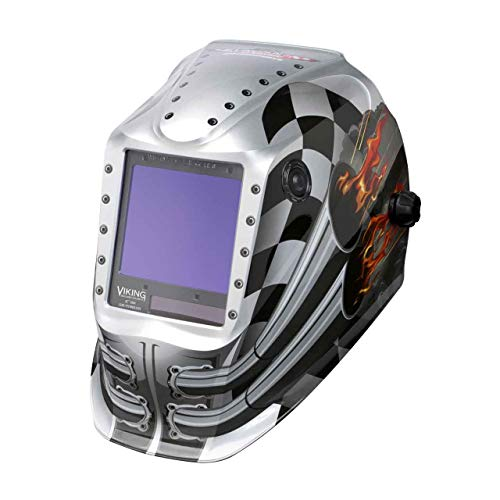 Lincoln Electric K3100-4 VIKING 3350 Auto Darkening Welding Helmet with 4C Lens Technology, Motorhead