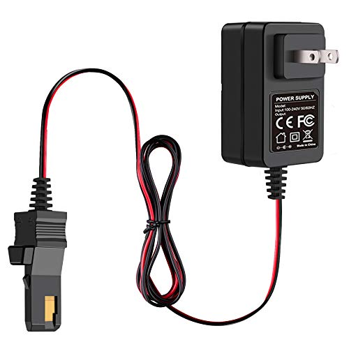for Power Wheels Charger 12 Volt Battery Charger for Fisher Price Ride-on Toys Using Gray and Orange Top Battery 00801-0638