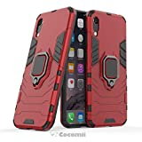 Cocomii Black Panther Ring Huawei Honor Play 8A/Y6 2019/Y6 Prime 2019 Hülle, Schlank Matte Vertikaler und Horizontaler Ständer Ringgriff Hülle Bumper Cover for Huawei Honor Play 8A/Y6 2019 (Red)