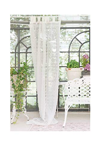 Blanc Mariclò Tenda Shabby Chic Puffolina Collection Colore Bianco 150x290 cm h