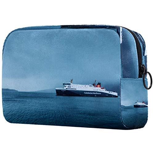Sminkväska för toalettartiklar för kvinnor handväska kosmetiska resekit organiserare det stora skeppet