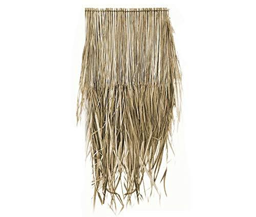Wilai Palmendächer Strohdach Palmdach Paneele Palmschindel Palmenblätter 25 cm Reetdach für Garten Balkon und Terrasse (20)