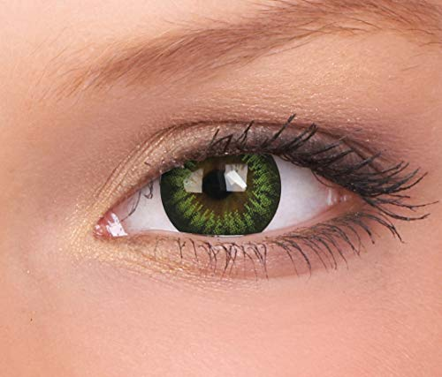 ColourVUE BigEyes Party Green 3 Months Disposable 15 mm Cosmetic Contact Lens (-0.50)