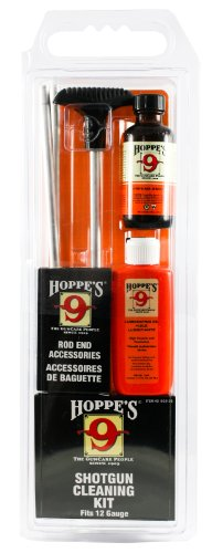 Hoppe's No. 9 Cleaning Kit with Aluminum Rod, 12-Gauge Shotgun, Clamshell