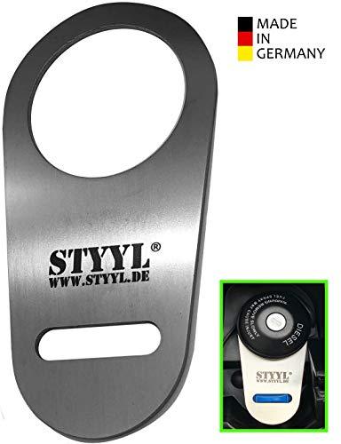 STYYL AdBlue®-Verschluss Sicherung Edelstahl passend für Kastenwagen (Ducato, Jumper, Boxer) Adblue Tank Deckel