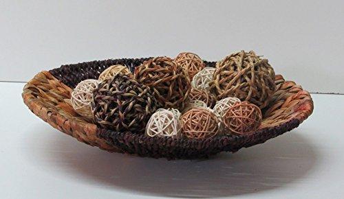 Unbekannt Dekoschale Schale 35 cm rund 2-farbig Wasserhyazinthe/Seegras