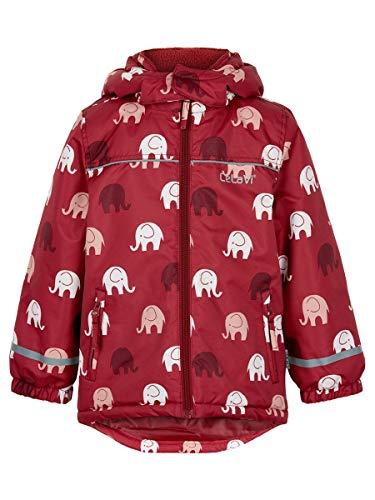 Celavi - Winterjacke für Mädchen - Elefant - Dunkelrot