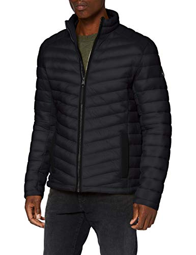 TOM TAILOR Herren Lightweight Steppjacke, Schwarz, XXL