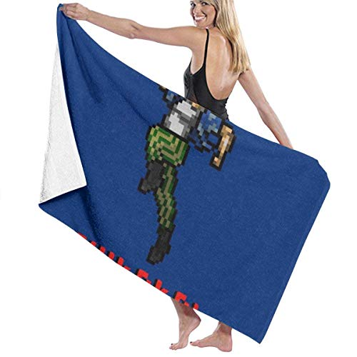 LNNZPL Ace Ventura Shikaka Pixellated Bath towel absorbent quick-drying beach towel portable travel towel baby bath towel blanket suitable for children and adults 80 X 130CM