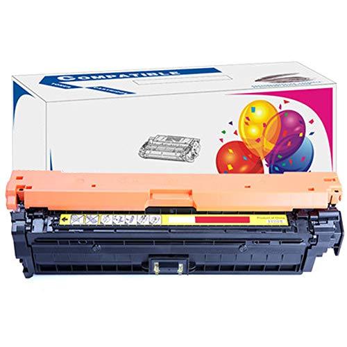 HP 740A - Cartucho de tóner para impresora láser color CP5225 en cuatro colores, negro, azul, amarillo magenta, compatible con cartucho de tóner HD de gran capacidad, precio bajo, color amarillo size