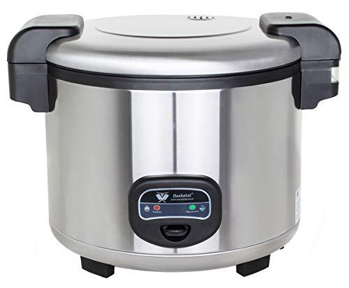 Beeketal 'BRK-5' Profi Gastro Reiskocher 13 Liter für bis zu 4 kg Reis (ca. 35-50 Portionen), Koch- und Warmhaltefunktion, antihaft Innentopf, Kondenswasserschale, inkl. Messbecher und Rührlöffel