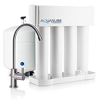 Aquasure Premier Advanced Reverse Osmosis Drinking Water Filtration System with Quick Twist Lock - 75 GPD