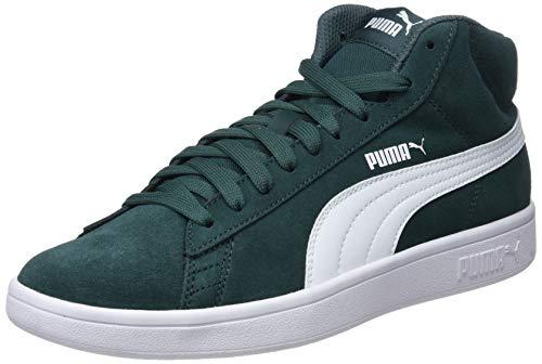 Puma Smash V2 Mid SD, Sneaker a Collo Alto Unisex - Adulto, Verde (Ponderosa Pine/Puma White), 41 EU